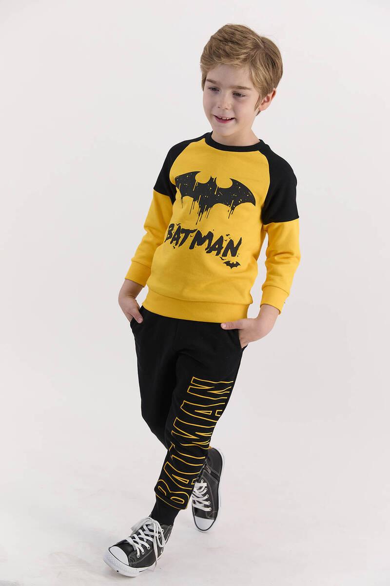 Batman - Batman Lisanslı Sarı Erkek Çocuk Ribanalı Eşofman Takımı (1)