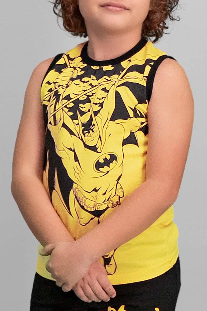 Batman - Batman Lisanslı Sarı Erkek Çocuk Şort Takım (1)