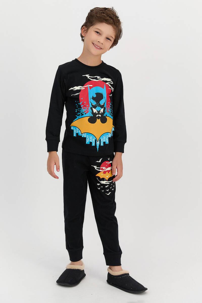 Batman - Batman Lisanslı Siyah Erkek Çocuk Eşofman Takımı