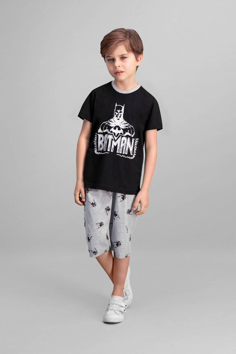Batman - Batman Lisanslı Siyah Erkek Çocuk Kapri Takım