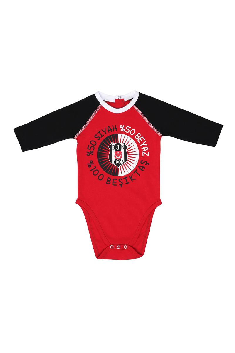 Beşiktaş - Beşiktaş Lisanslı Kırmızı Bebek Body & Zıbın