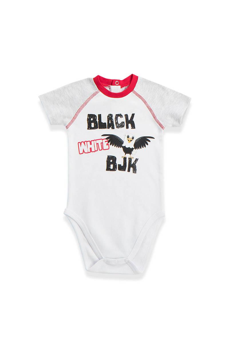 Beşiktaş - Beşiktaş Lisanslı Bebek Body Beyaz