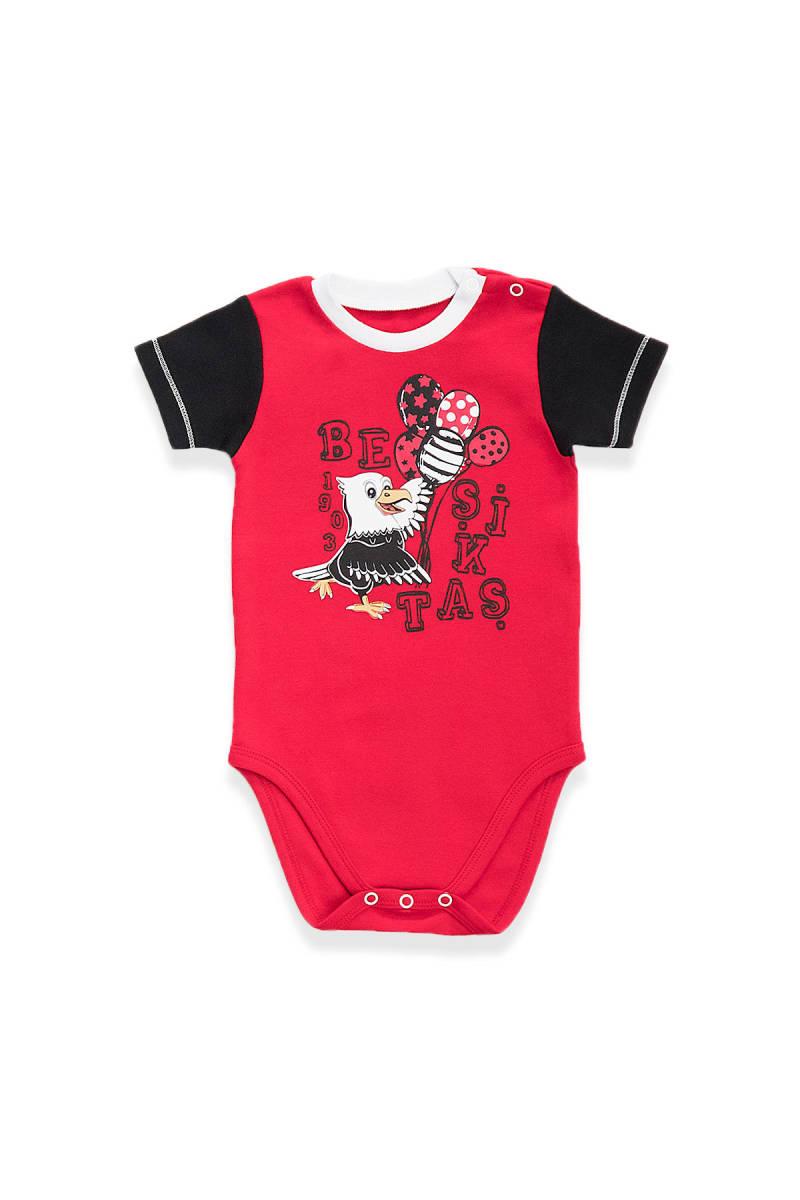 Beşiktaş - Beşiktaş Lisanslı Kırmızı Bebek Body