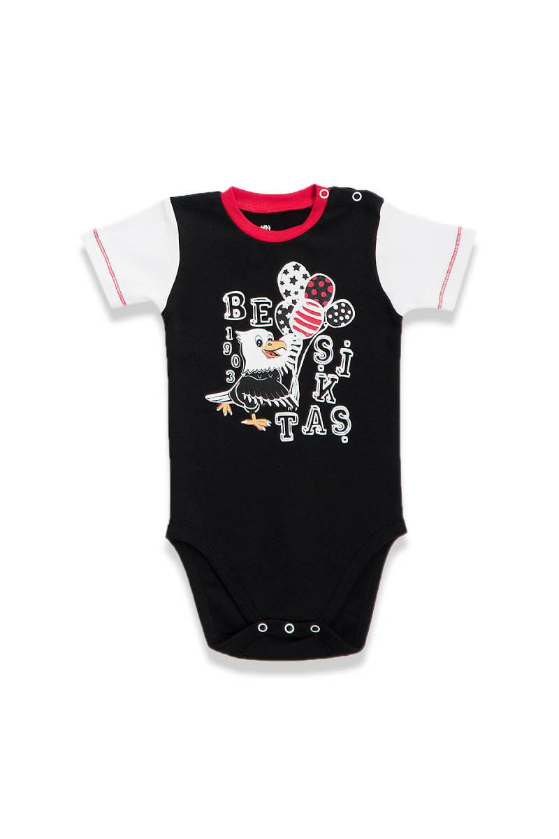 Beşiktaş - Beşiktaş Lisanslı Siyah Bebek Body