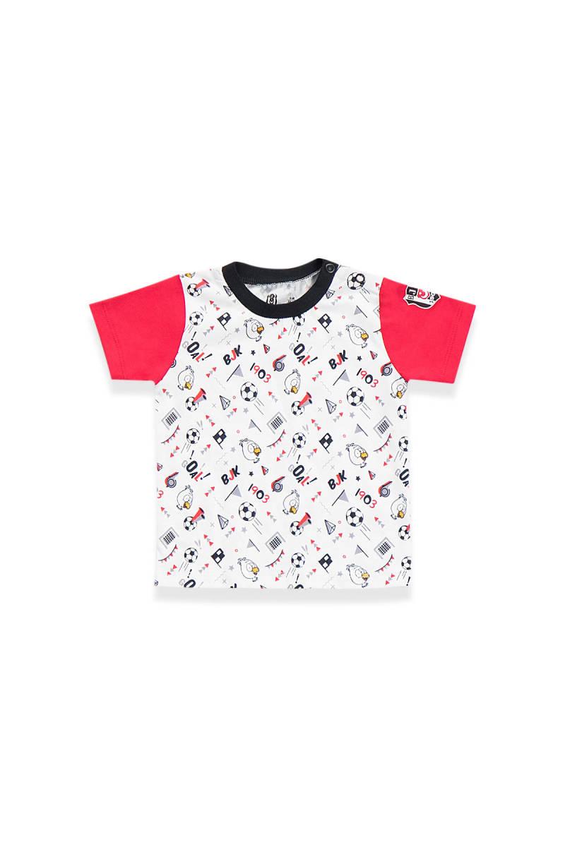 Beşiktaş - Beşiktaş Lisanslı Bebek T-Shirt Beyaz