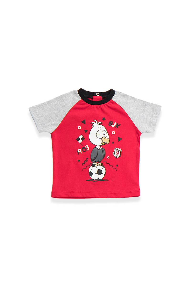 Beşiktaş - Beşiktaş Lisanslı Bebek T-Shirt Kırmızı
