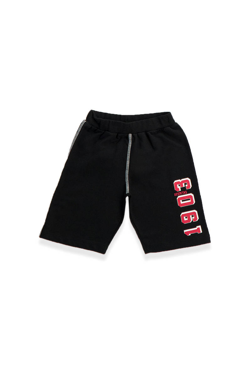 Beşiktaş - Beşiktaş Lisanslı Çocuk Bermuda Siyah