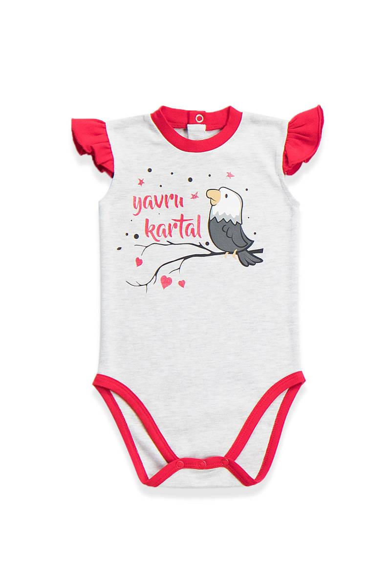 Beşiktaş - Beşiktaş Lisanslı Kız Bebek Body Karmelanj
