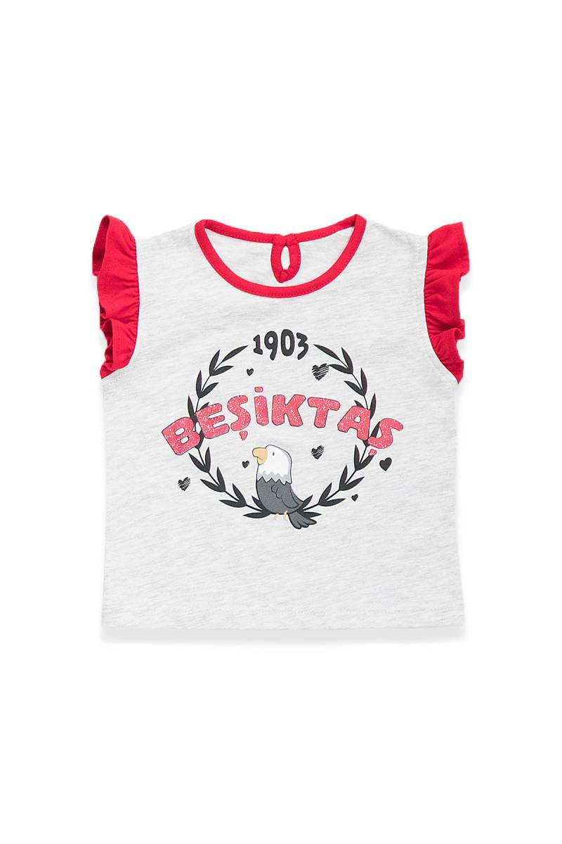 Beşiktaş - Beşiktaş Lisanslı Kız Bebek T-Shirt Karmelanj
