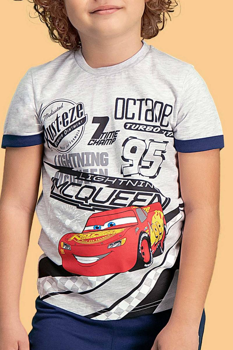 Cars - Cars Lisanslı Açık Gri Erkek Çocuk Kapri Takım (1)