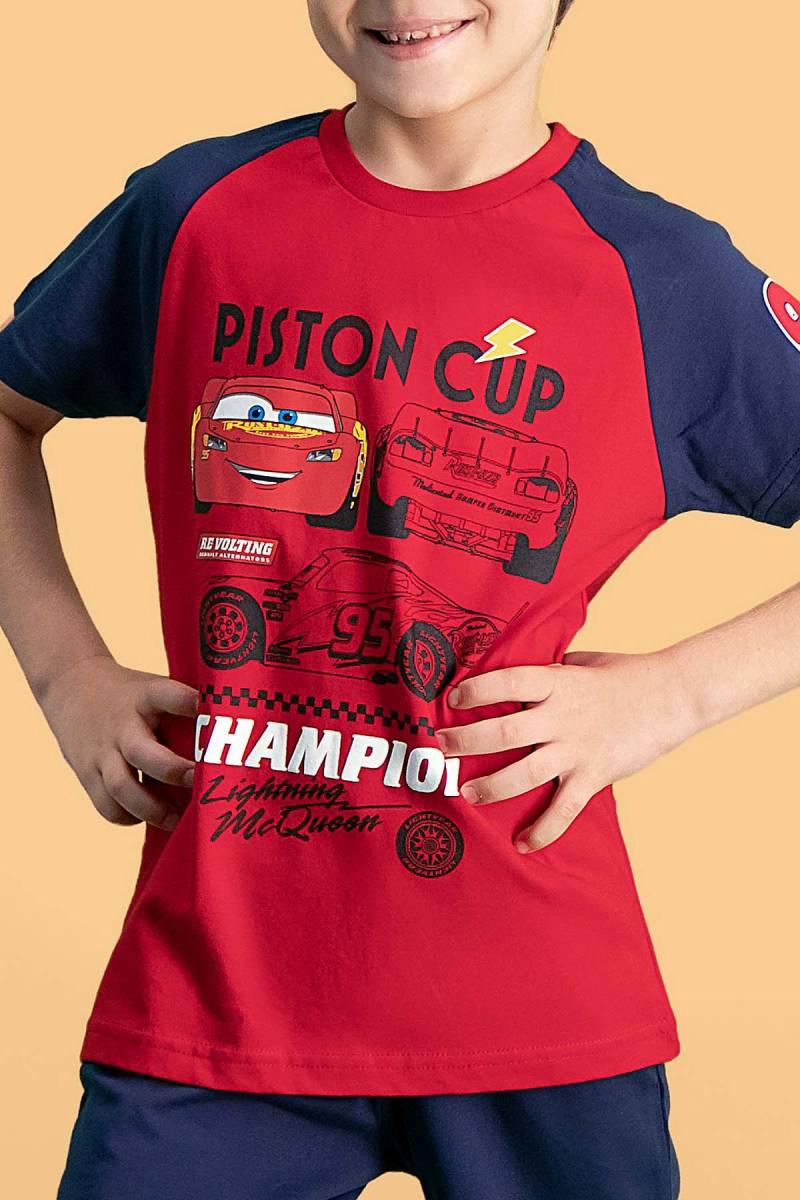 Cars - Cars Lisanslı Kırmızı Erkek Çocuk Bermuda Takım (1)