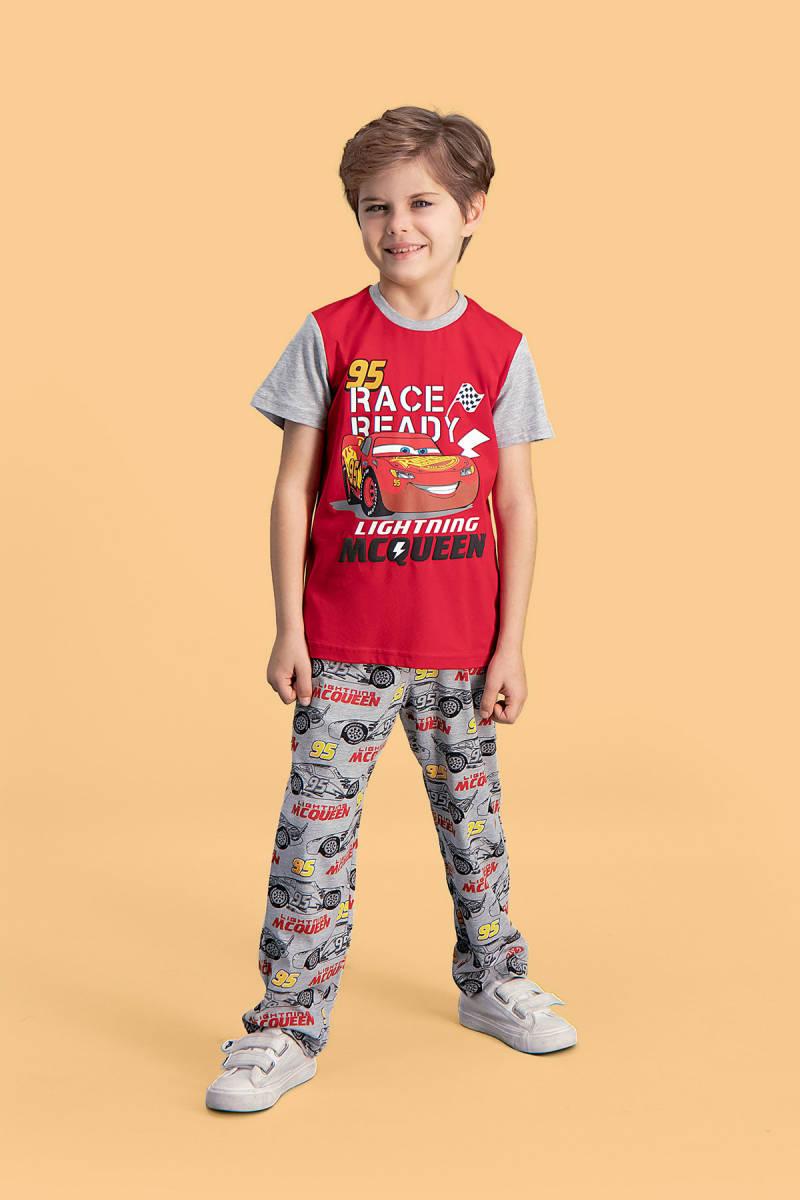 Cars - Cars Lisanslı Kırmızı Erkek Çocuk Pijama Takımı