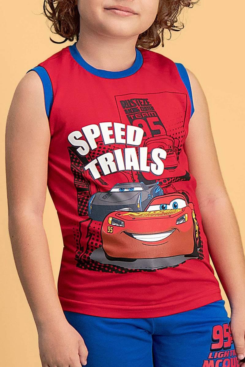Cars - Cars Lisanslı Kırmızı Erkek Çocuk Şort Takım (1)