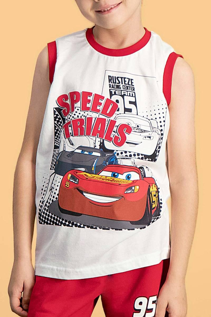 Cars - Cars Lisanslı Krem Erkek Çocuk Şort Takım