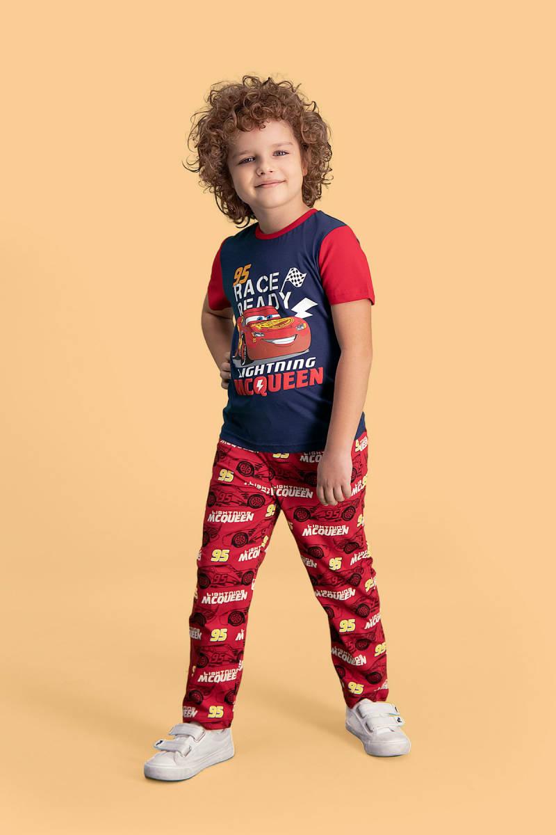 Cars - Cars Lisanslı Lacivert Erkek Çocuk Pijama Takımı