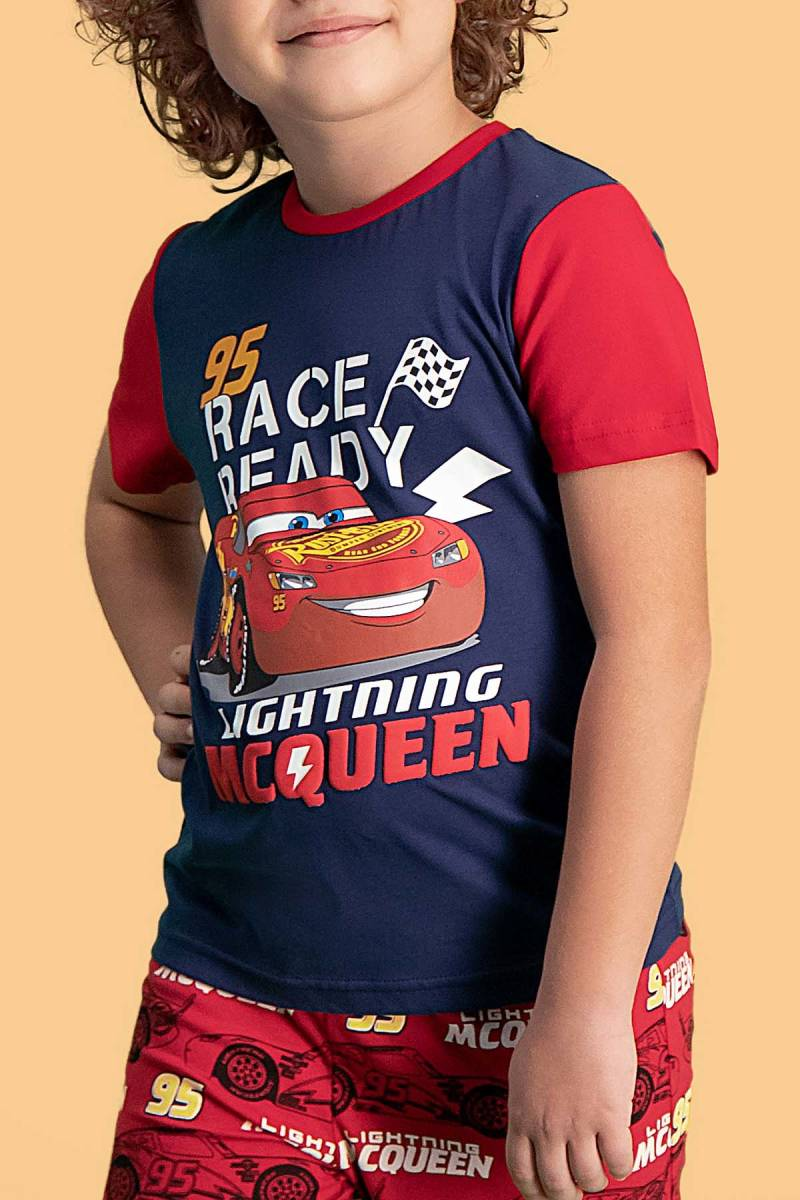 Cars - Cars Lisanslı Lacivert Erkek Çocuk Pijama Takımı (1)