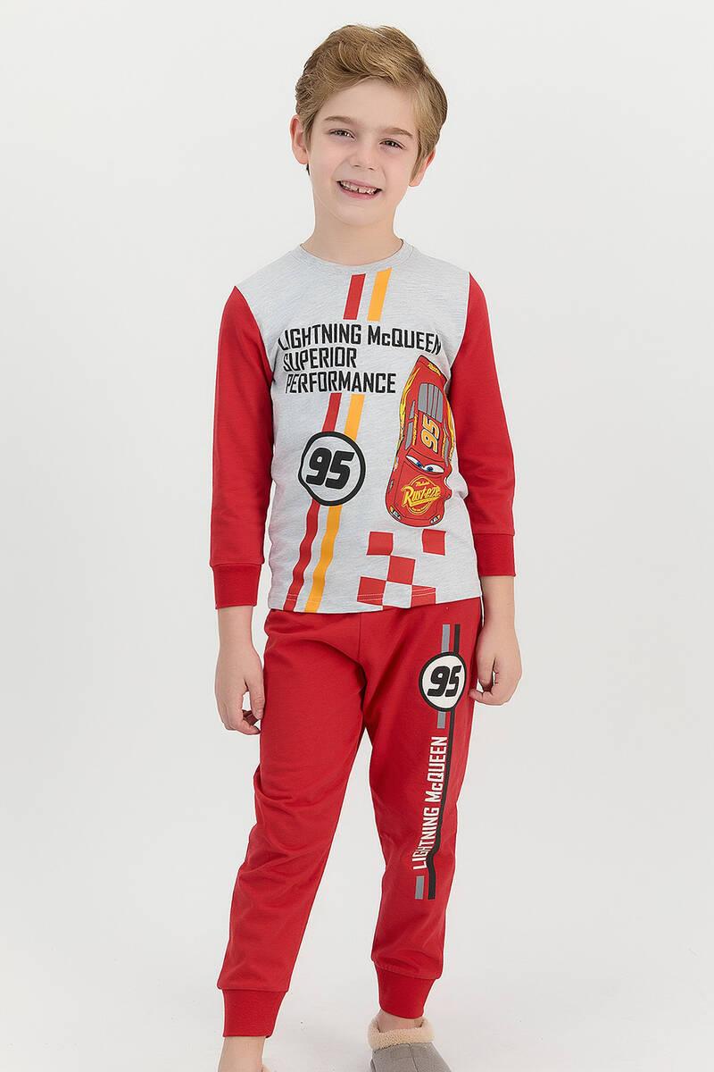 Cars - Cars Lisanslı Performance Karmelanj Erkek Çocuk Pijama Takımı