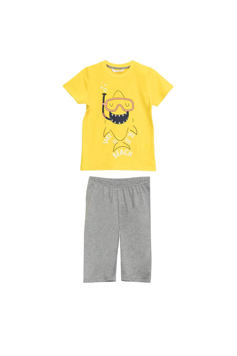 RolyPoly - RolyPoly Erkek Çocuk Kapri Takımı Sarı