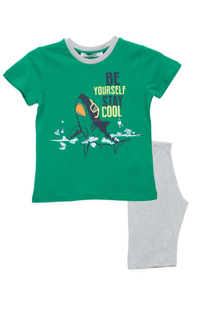 RolyPoly - RolyPoly Yeşil Erkek Çocuk Kapri Takım