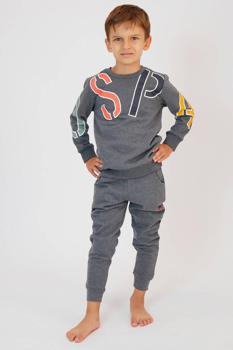U.S. Polo Assn - U.S. Polo Assn Açıkmelanj Erkek Çocuk Eşofman Takımı (1)