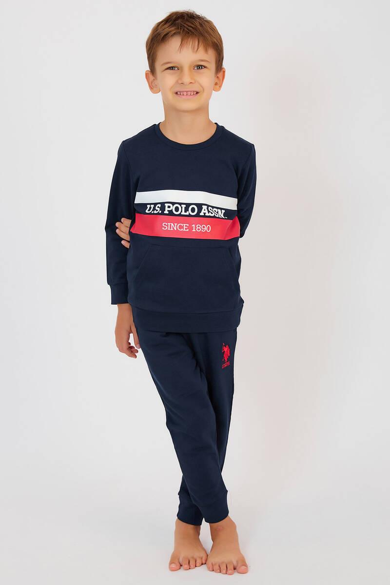 U.S. Polo Assn - U.S. Polo Assn Lacivert Erkek Çocuk Eşofman Takımı (1)