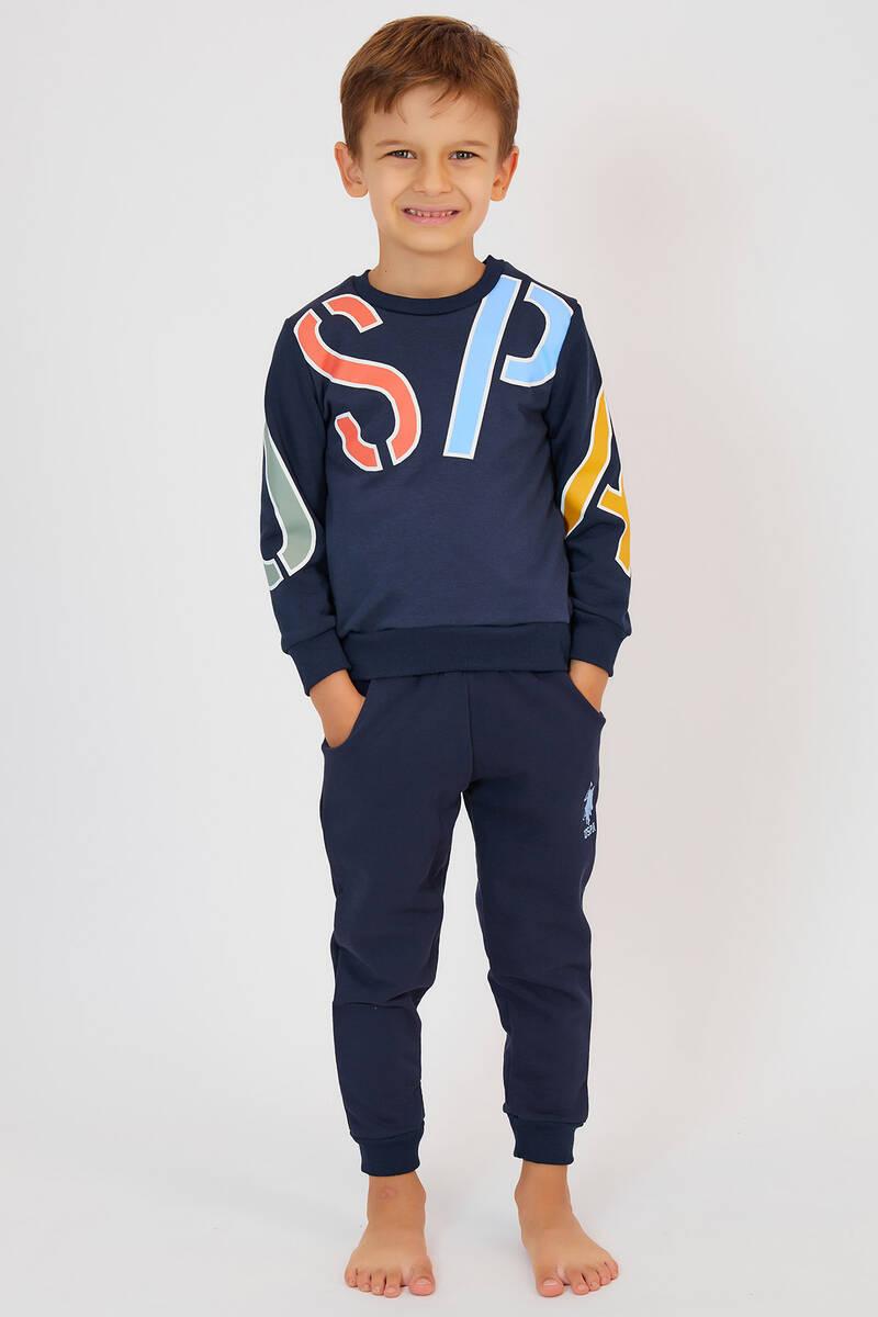 U.S. Polo Assn - U.S. Polo Assn Lacivert Erkek Çocuk Eşofman Takımı