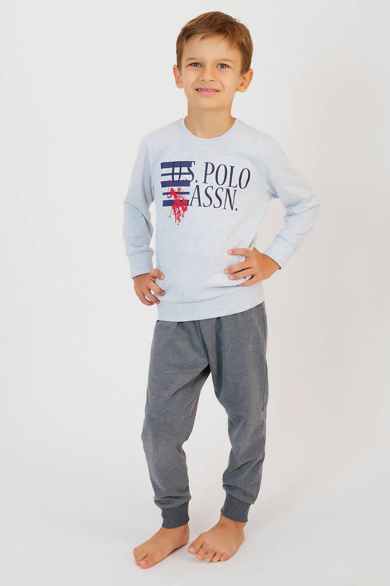 U.S. Polo Assn - U.S. Polo Assn Karmelanj Erkek Çocuk Ribanalı Pijama Takımı (1)