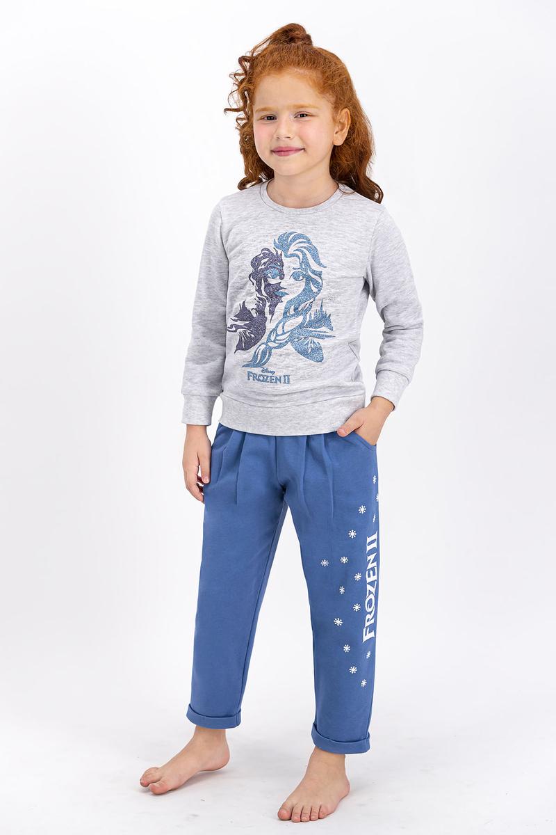 Karlar Ülkesi - Frozen - Karlar Ülkesi Frozen Lisanslı Karmelanj Kız Çocuk Eşofman Takımı