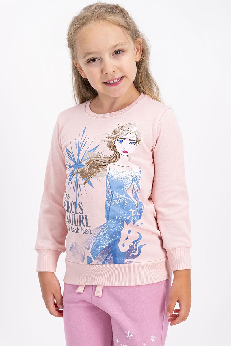 Karlar Ülkesi - Frozen - Karlar Ülkesi Frozen Lisanslı Somon Kız Çocuk Eşofman Takımı (1)