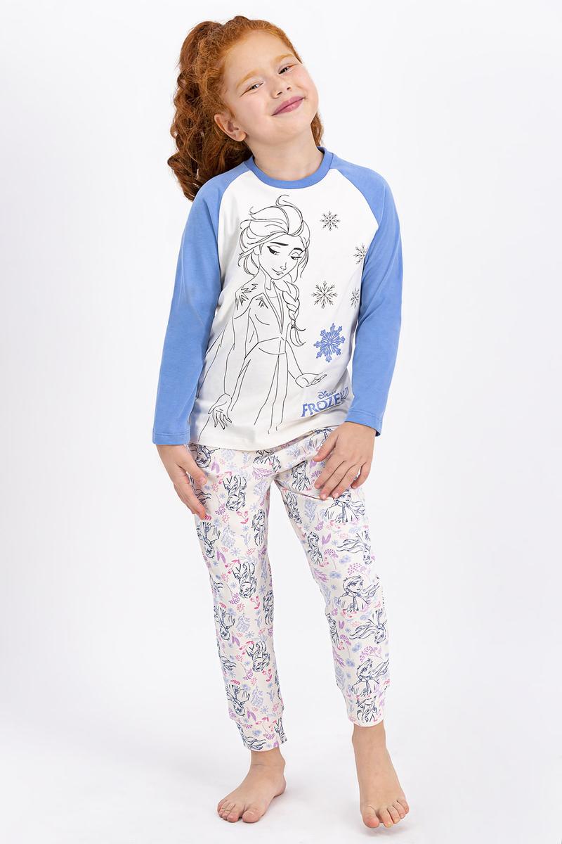 Karlar Ülkesi - Frozen - Karlar Ülkesi Frozen Lisanslı Vanilya Kız Çocuk Pijama Takımı