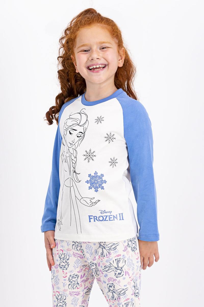 Karlar Ülkesi - Frozen - Karlar Ülkesi Frozen Lisanslı Vanilya Kız Çocuk Pijama Takımı (1)