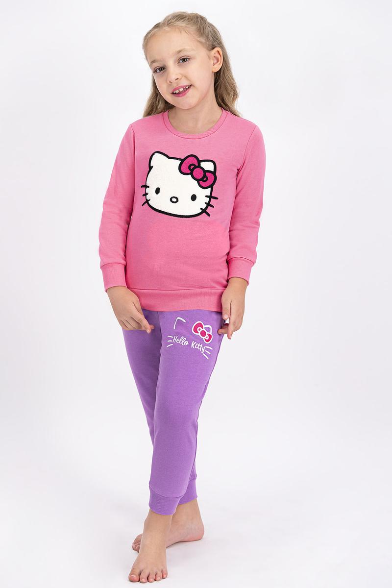 Hello Kitty - Hello Kitty Lisanslı Pembe Kız Çocuk Eşofman Takımı