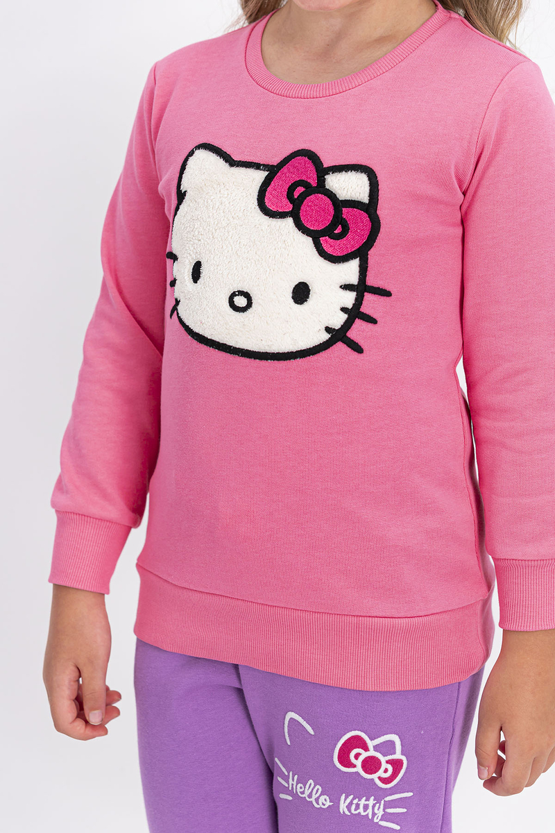 Hello Kitty - Hello Kitty Lisanslı Pembe Kız Çocuk Eşofman Takımı (1)