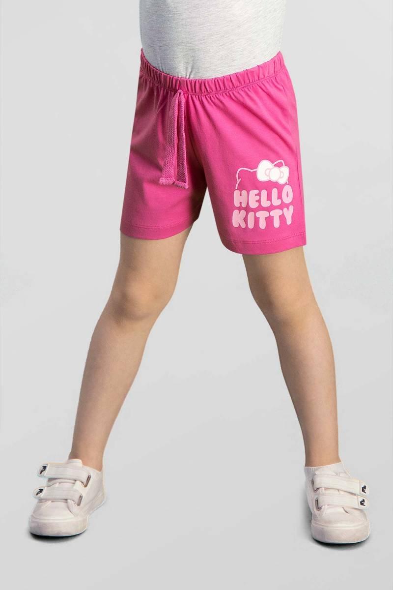 Hello Kitty - Hello Kitty Lisanslı Fuşya Kız Çocuk Şort