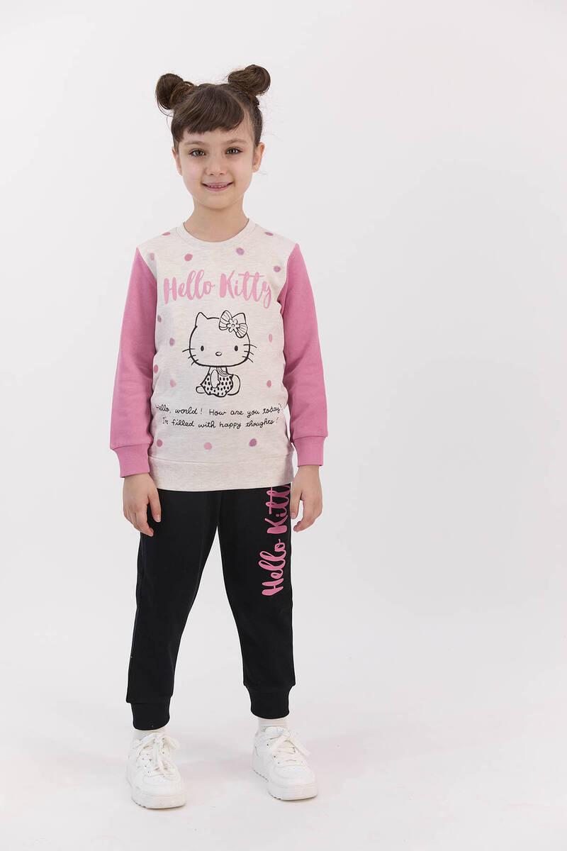 Hello Kitty - Hello Kitty Lisanslı Kremmelanj Kız Çocuk Eşofman Takımı (1)