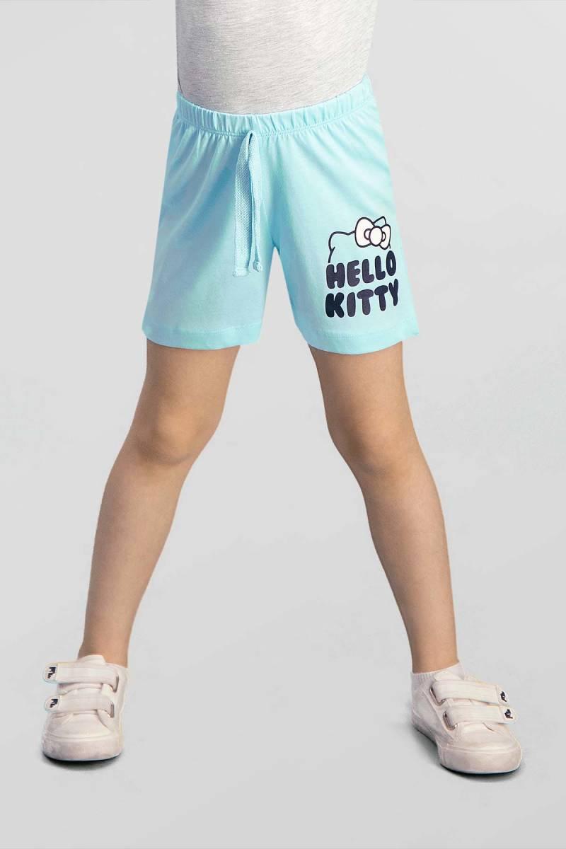 Hello Kitty - Hello Kitty Lisanslı Mavi Kız Çocuk Şort