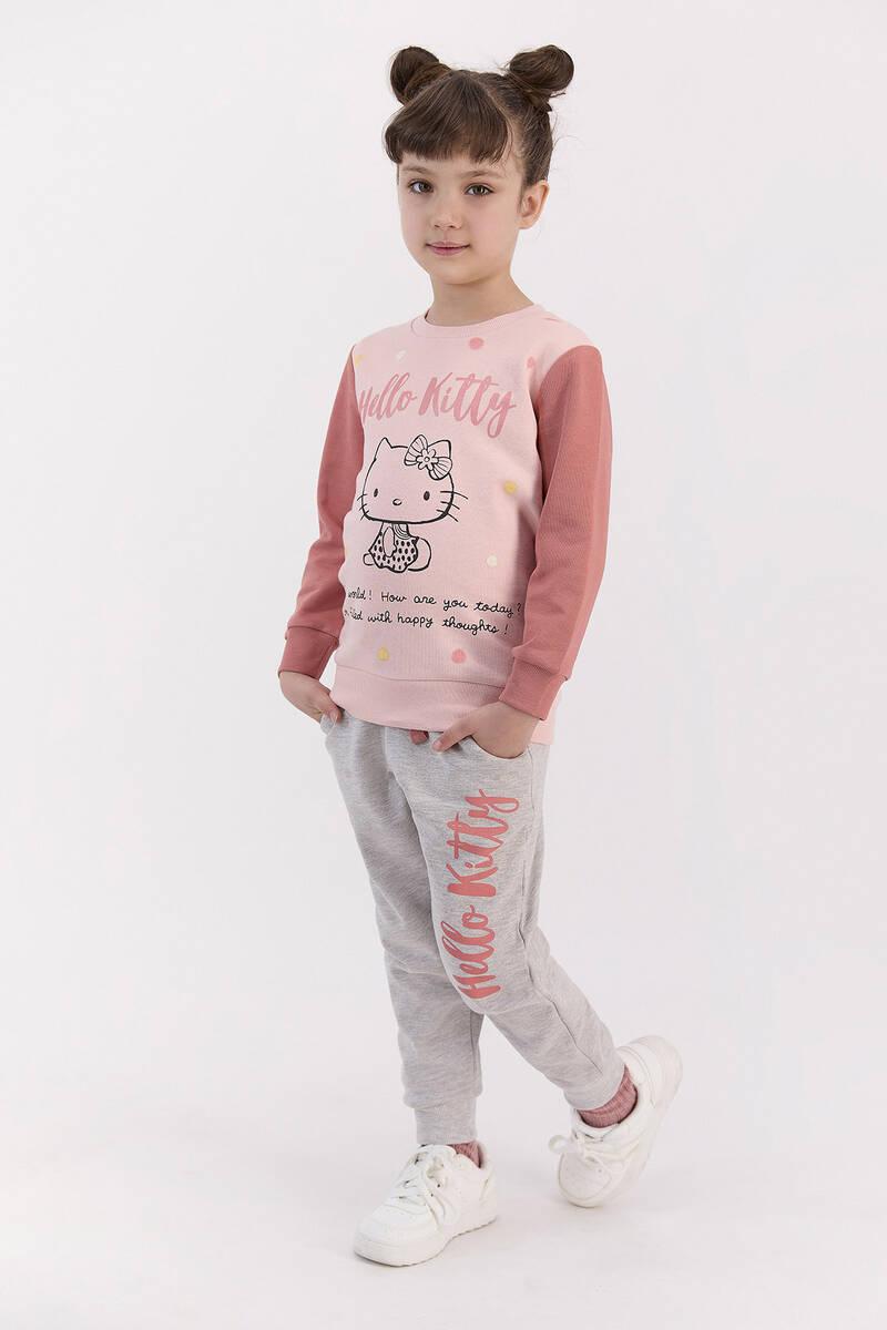 Hello Kitty - Hello Kitty Lisanslı Pudra Kız Çocuk Eşofman Takımı