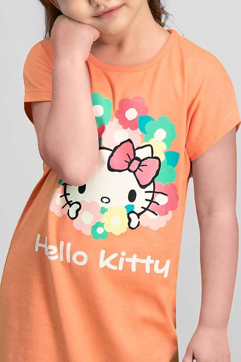 Hello Kitty - Hello Kitty Lisanslı Yavruağzı Kız Çocuk Gecelik (1)