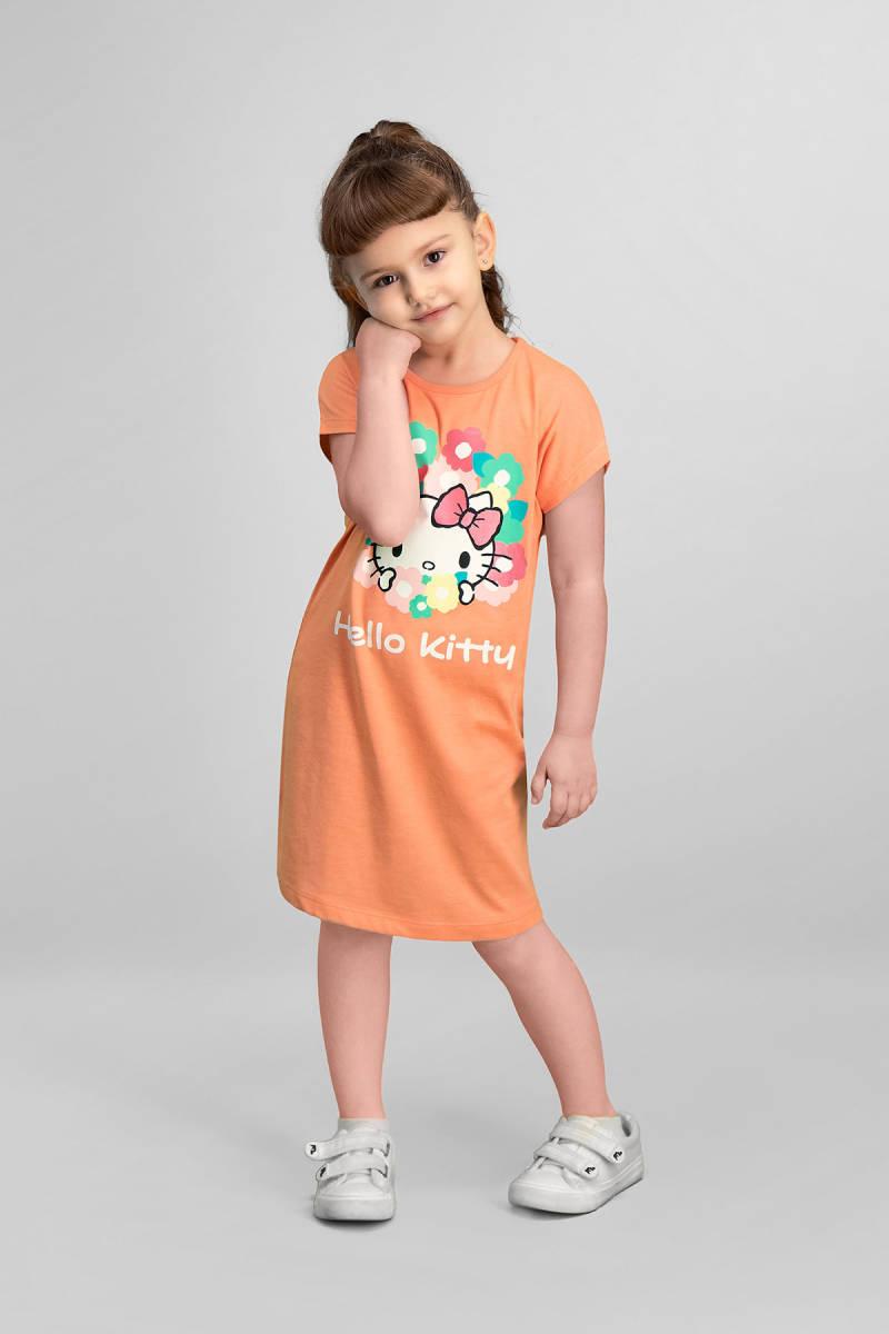 Hello Kitty - Hello Kitty Lisanslı Yavruağzı Kız Çocuk Gecelik