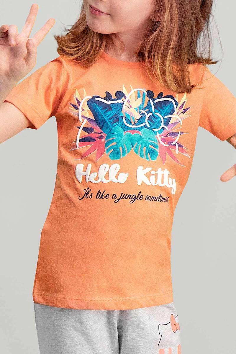 Hello Kitty - Hello Kitty Lisanslı Yavruağzı Kız Çocuk Pijama Takımı (1)