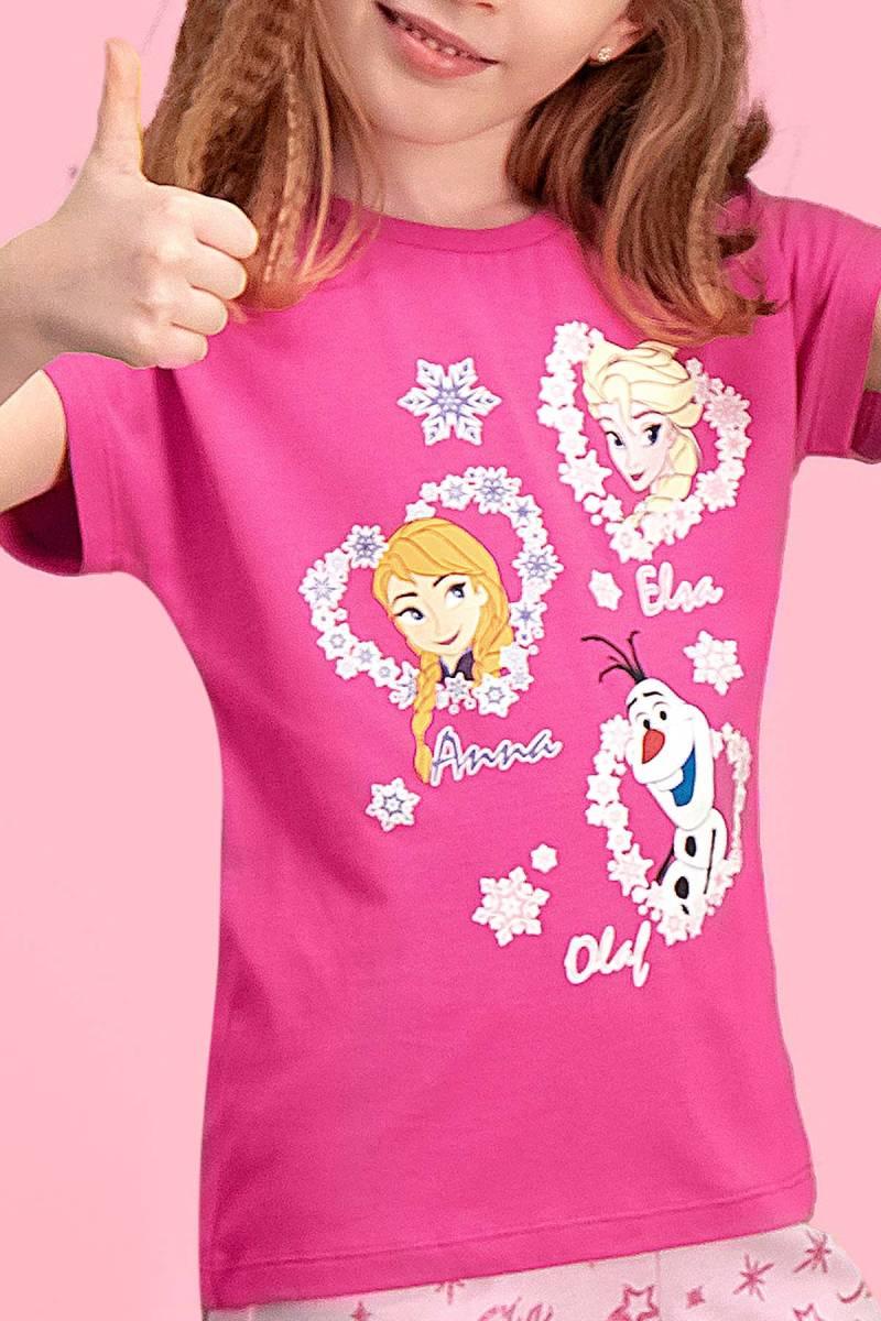 Karlar Ülkesi - Frozen - Karlar Ülkesi Elsa - Frozen Lisanslı Fuşya Kız Çocuk Kapri Takım (1)