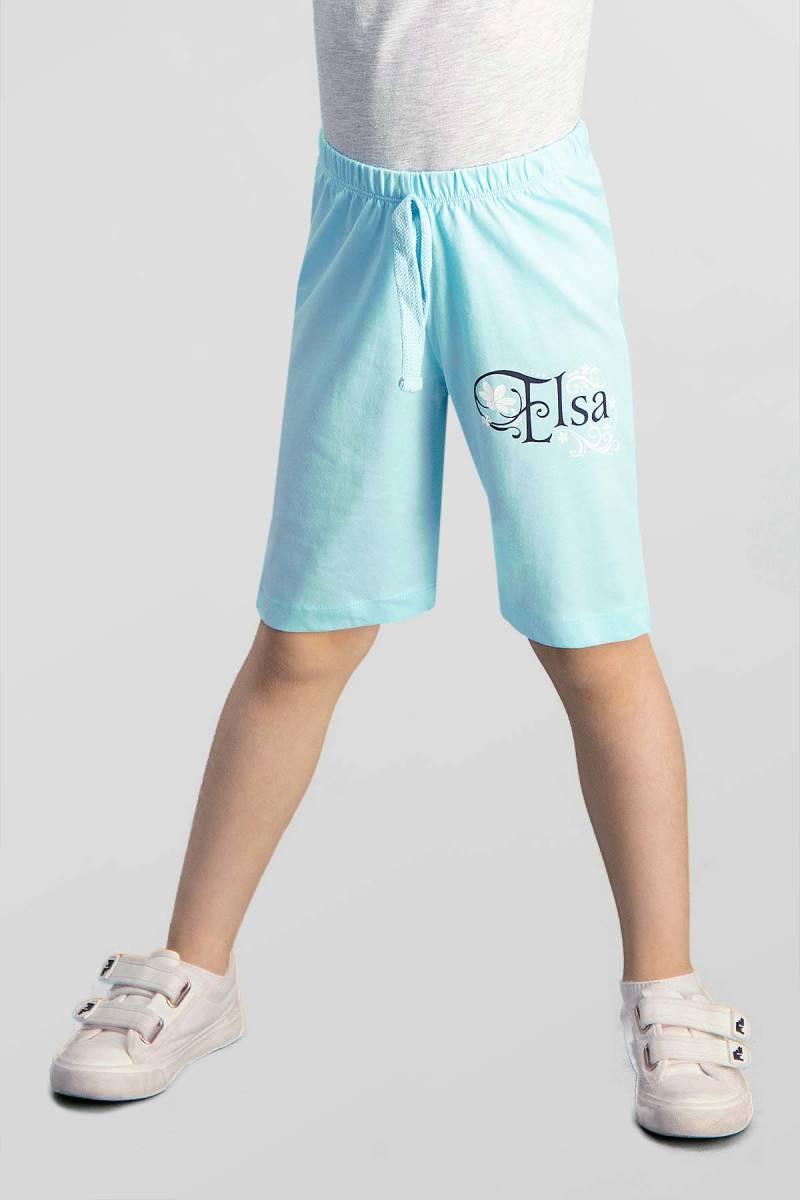 Karlar Ülkesi - Frozen - Karlar Ülkesi Elsa - Frozen Lisanslı Mavi Kız Çocuk Bermuda