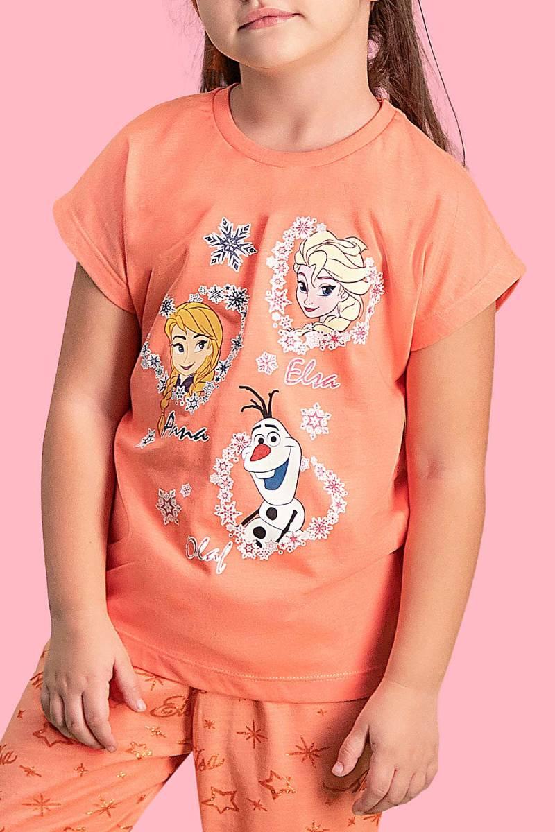 Karlar Ülkesi - Frozen - Karlar Ülkesi Elsa - Frozen Lisanslı Yavruağzı Kız Çocuk Kapri Takım (1)