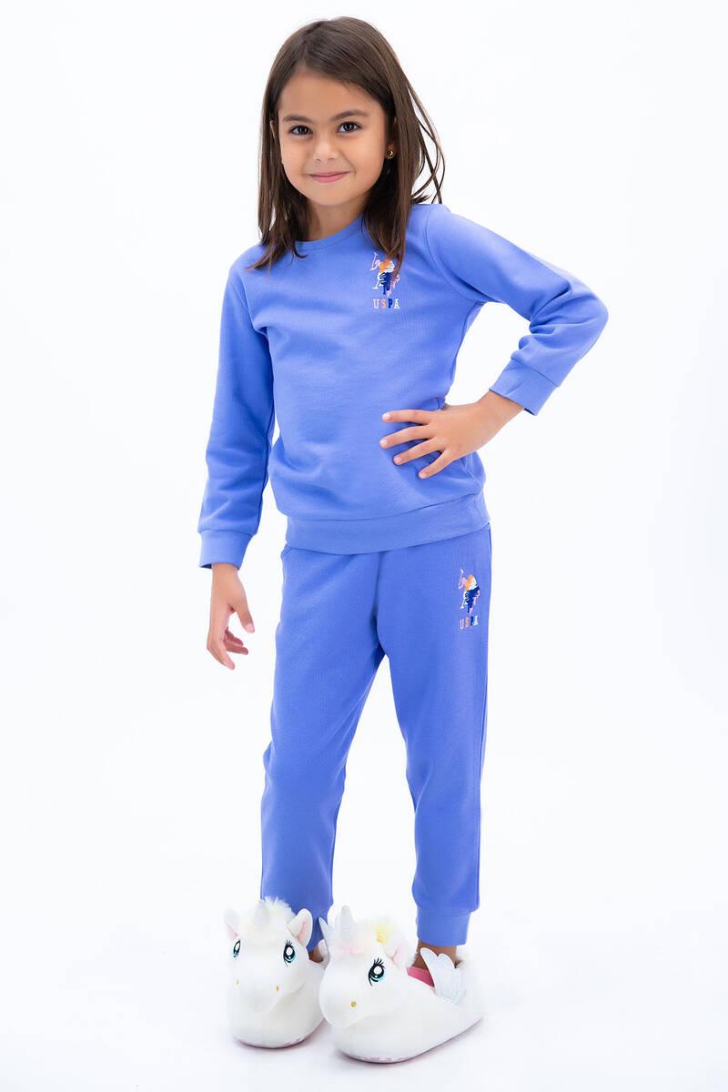 U.S. Polo Assn - U.S. Polo Assn Kız Çocuk Basic İndigo Eşofman Takımı (1)