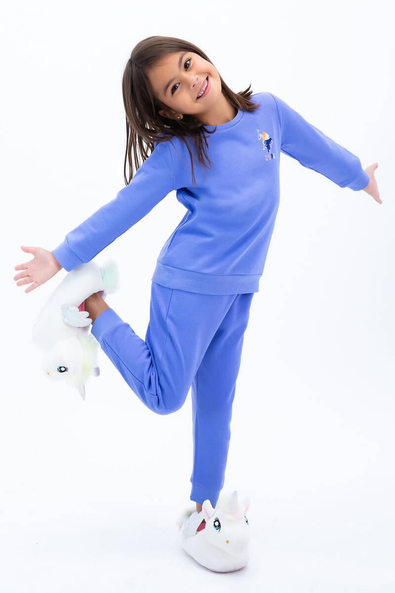 U.S. Polo Assn - U.S. Polo Assn Kız Çocuk Basic İndigo Eşofman Takımı