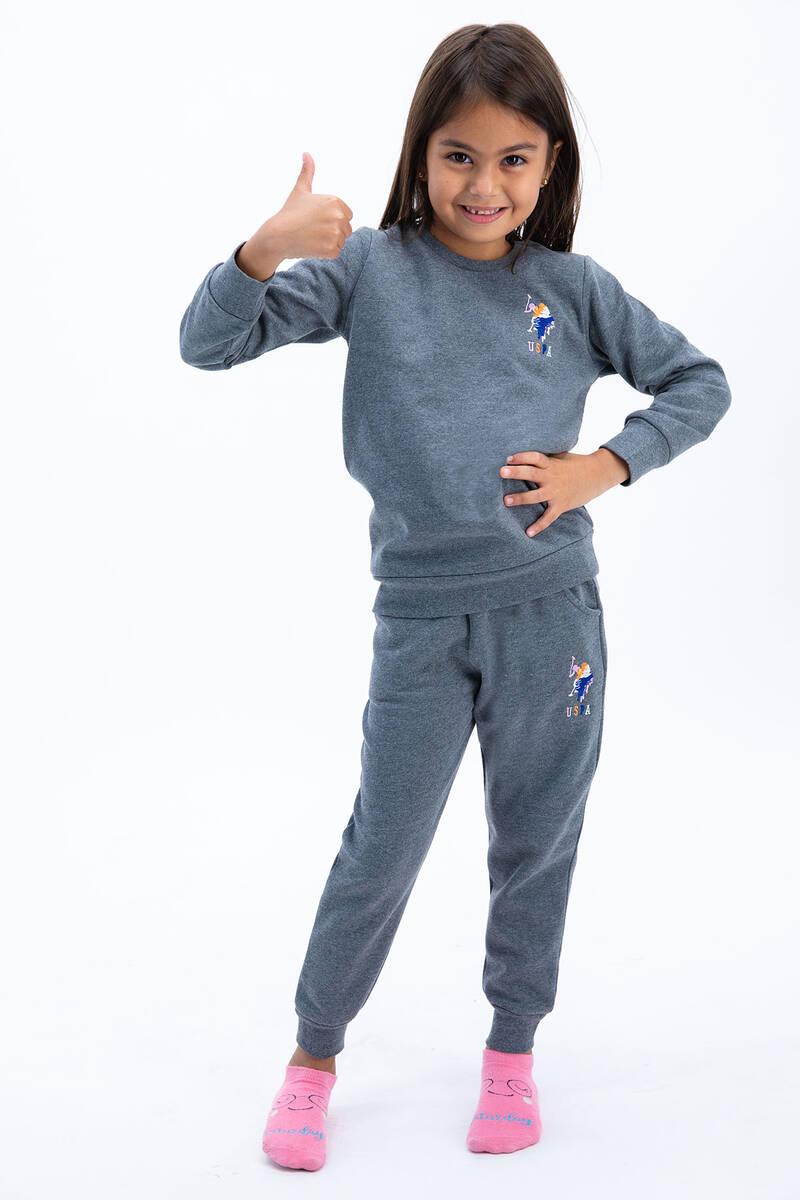 U.S. Polo Assn - U.S. Polo Assn Kız Çocuk Basic Antrasit Eşofman Takımı (1)
