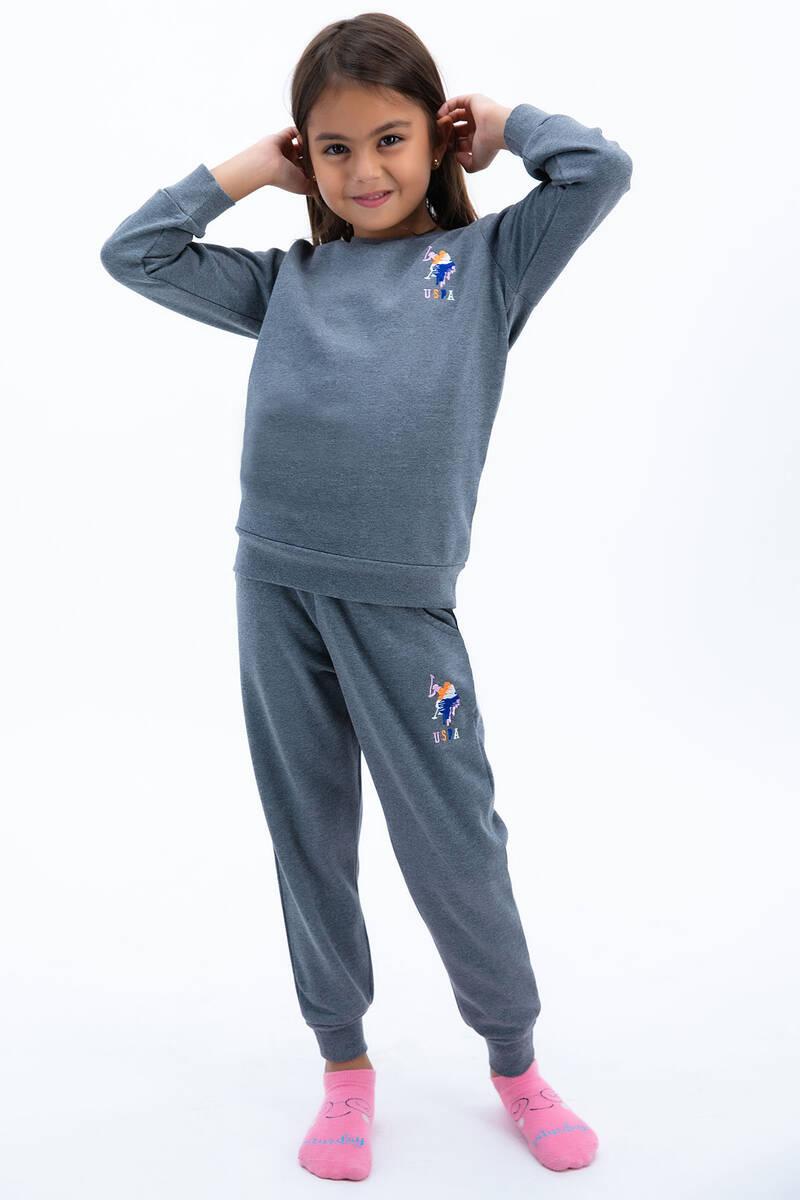 U.S. Polo Assn - U.S. Polo Assn Kız Çocuk Basic Antrasit Eşofman Takımı