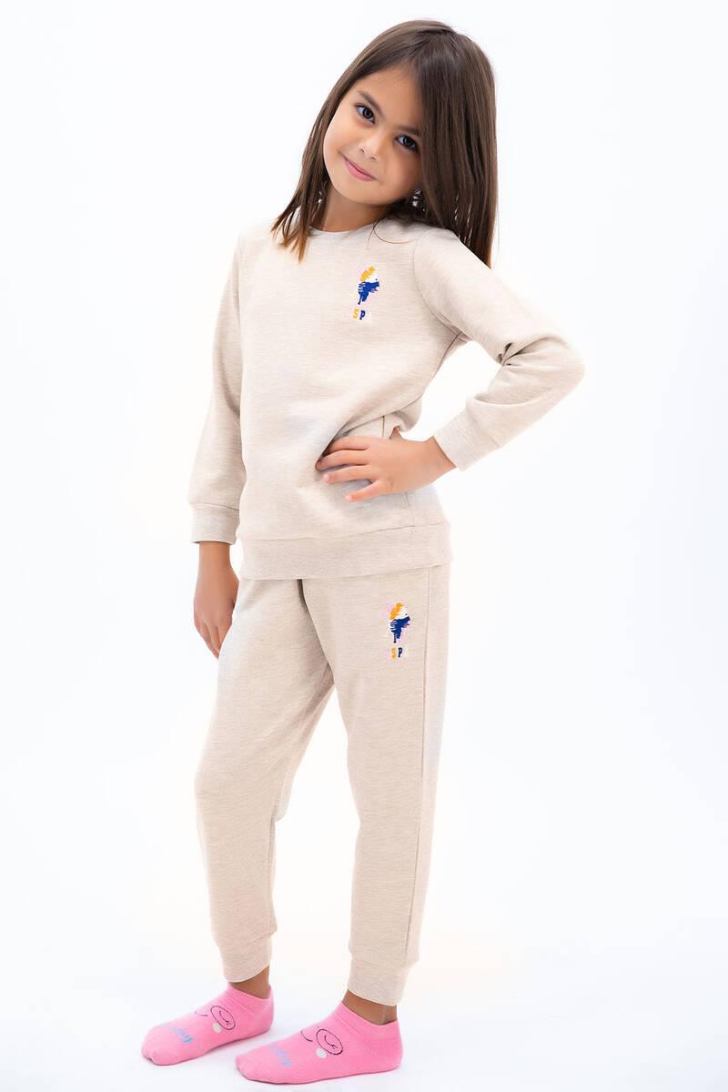U.S. Polo Assn - U.S. Polo Assn Kız Çocuk Basic Karmelanj Eşofman Takımı