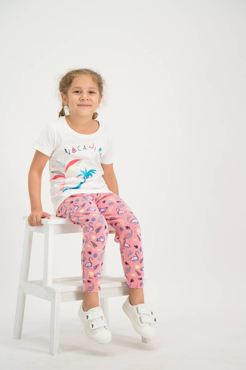 RolyPoly - RolyPoly Kız Çocuk Pijama Takımı Krem (1)