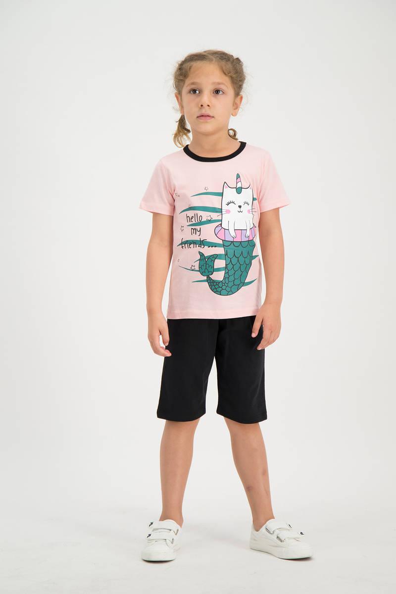 RolyPoly - RolyPoly Kız Çocuk kapri Takımı Açık Pembe